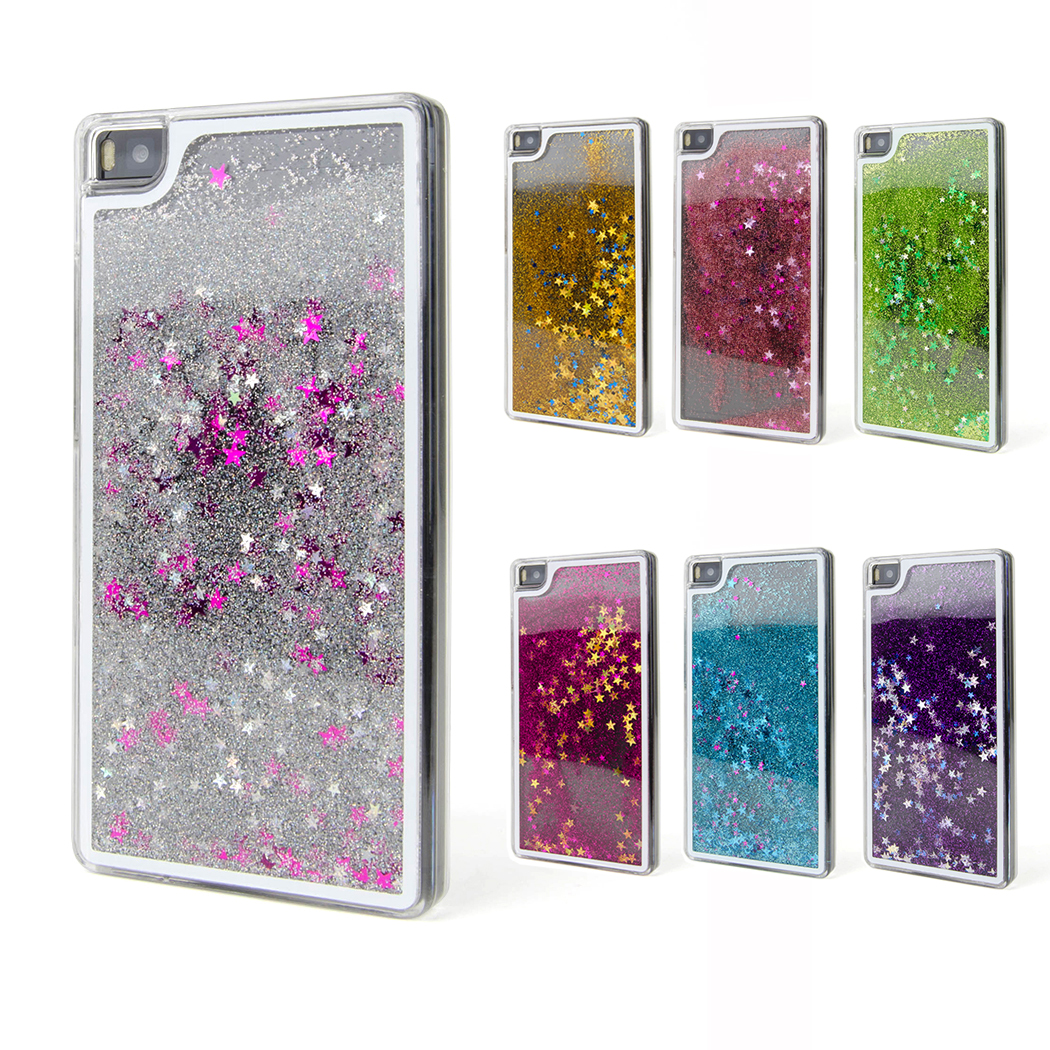 huawei p8 p8 lite handyh lle cover h lle case glitzer. Black Bedroom Furniture Sets. Home Design Ideas